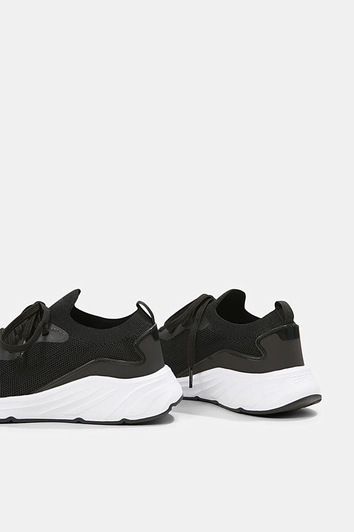 Kombinierte Knit-Sneaker, BLACK, detail image number 5