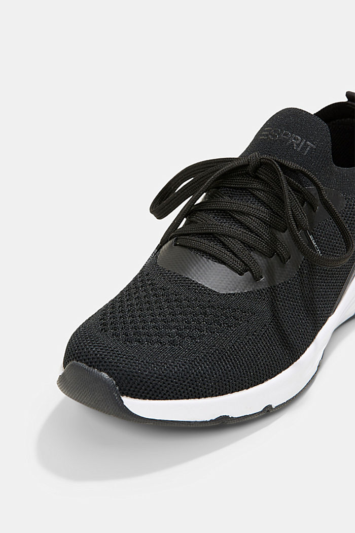 Kombinierte Knit-Sneaker, BLACK, detail image number 4