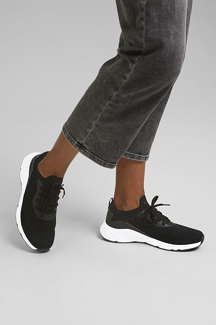 Kombinierte Knit-Sneaker, BLACK, detail image number 3