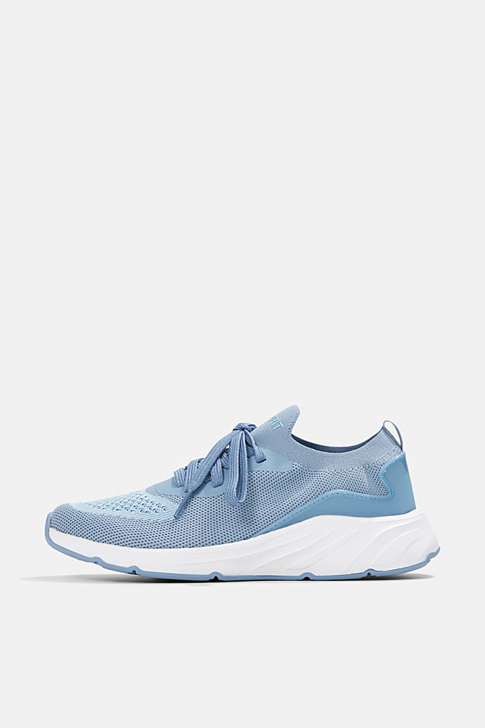 Combined knit trainers, GREY BLUE, detail image number 0