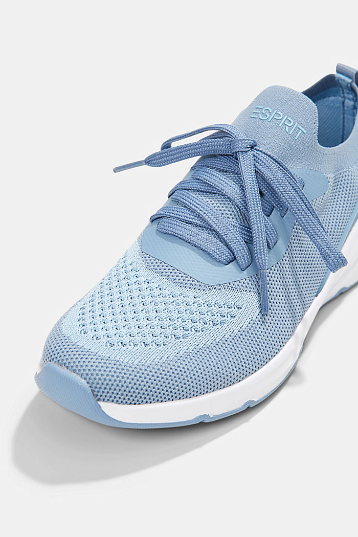 Combined knit trainers, GREY BLUE, detail image number 4