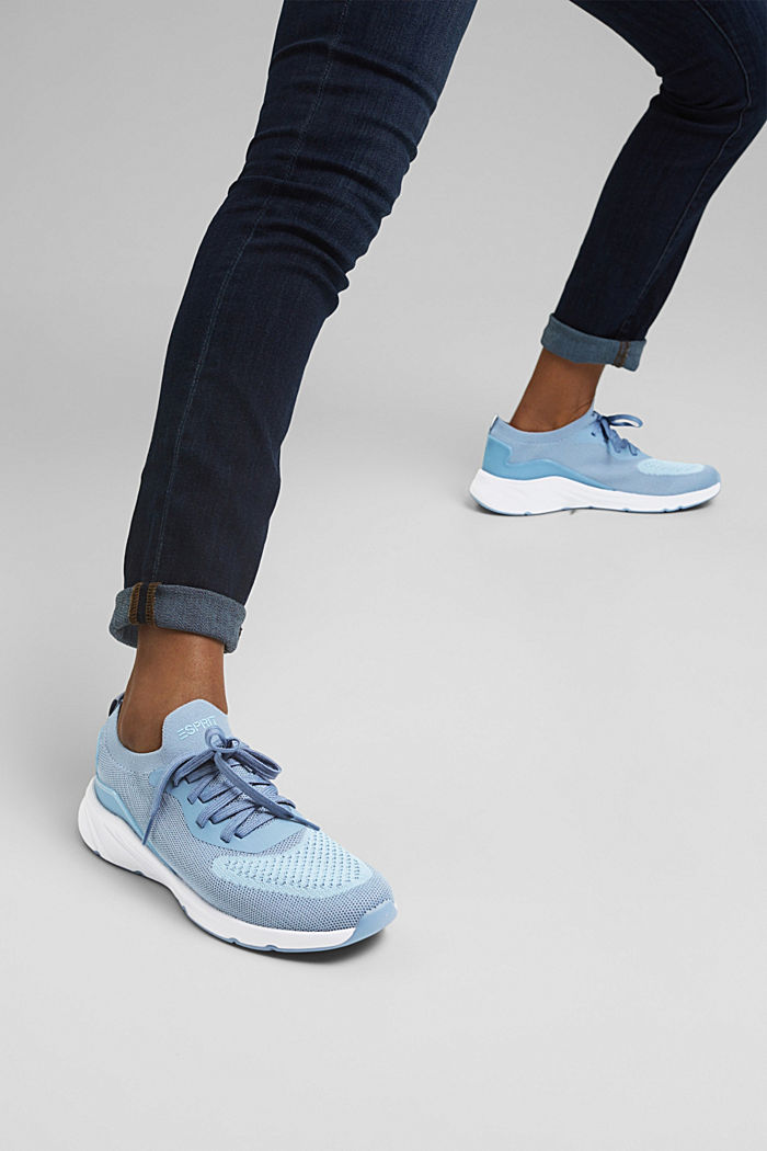 Combined knit trainers, GREY BLUE, detail image number 3