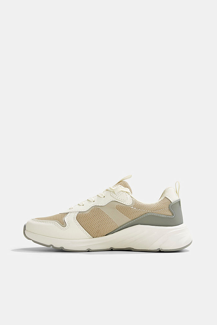 Trainers in a mix of materials, CREME, overview