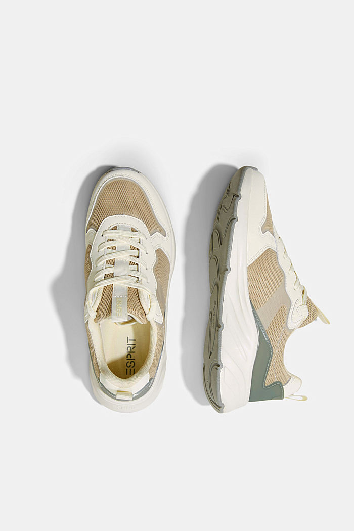 Trainers in a mix of materials, CREME, detail image number 1