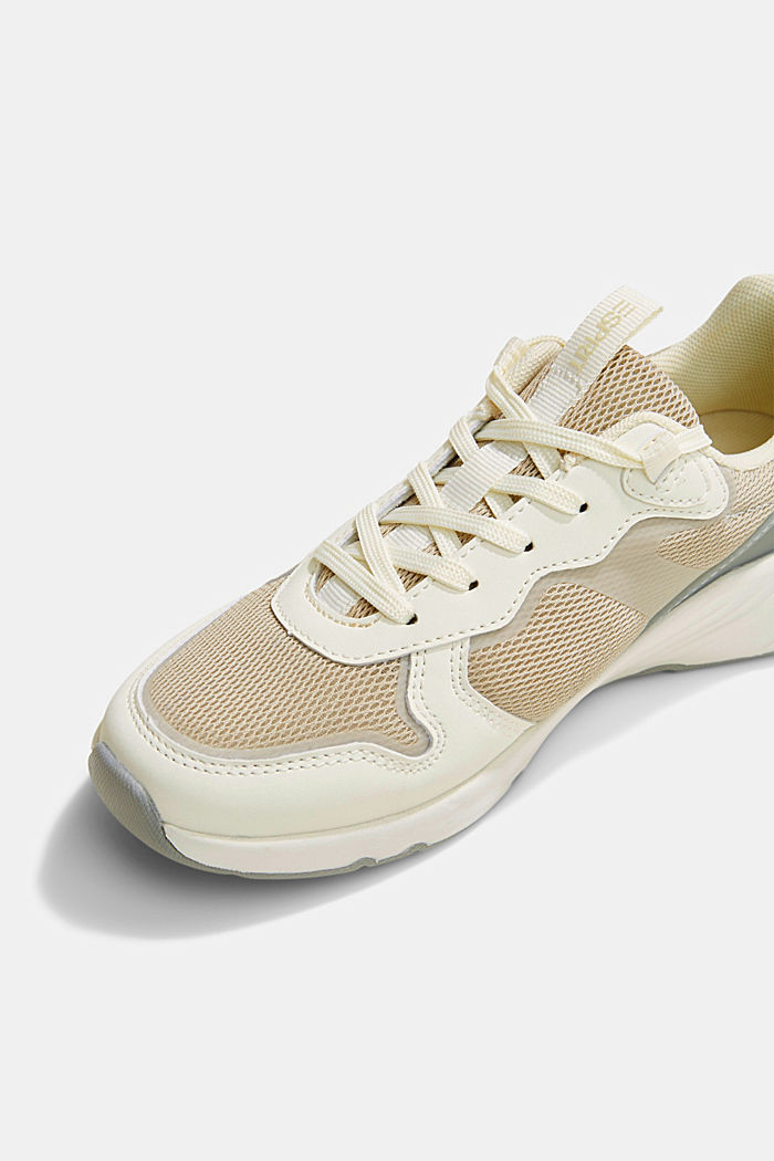 Trainers in a mix of materials, CREME, detail image number 4