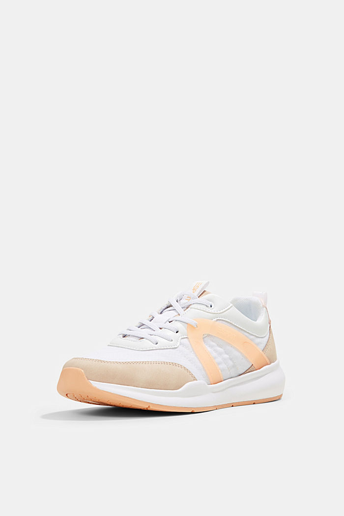 Material mix fashion trainers, ORANGE, detail image number 2