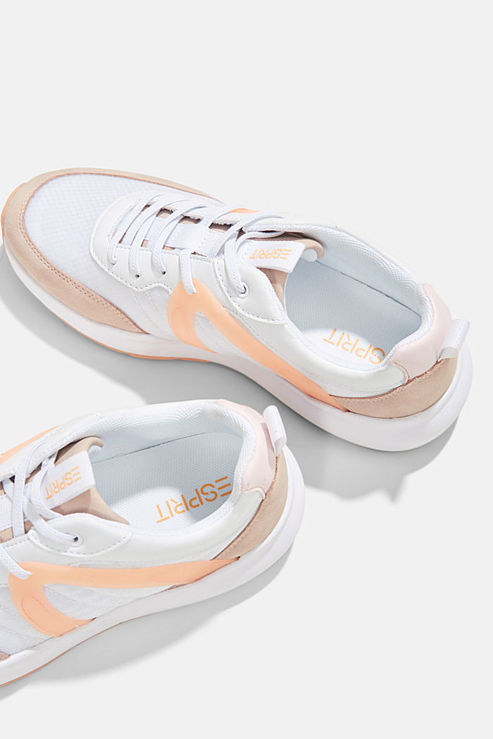 Material mix fashion trainers, ORANGE, detail image number 6