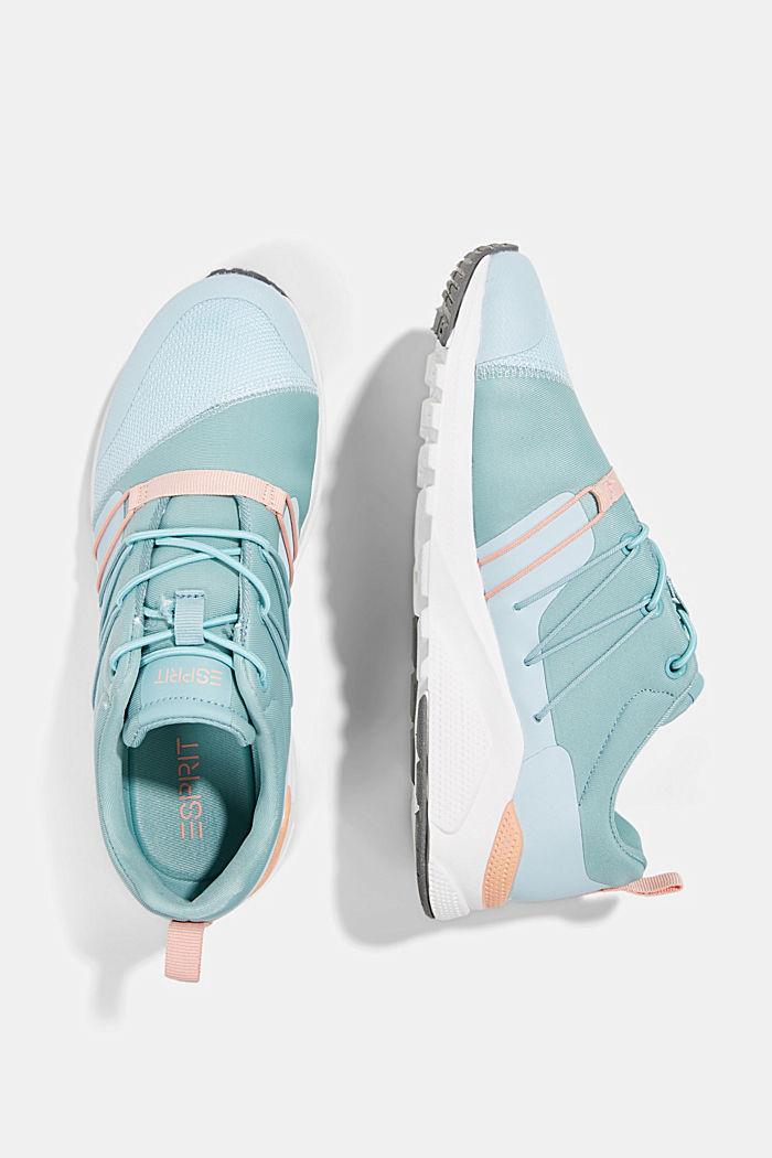 Sneaker im Material-Mix, LIGHT BLUE, detail image number 1