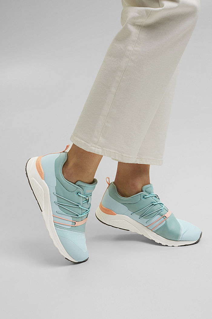 Sneaker im Material-Mix, LIGHT BLUE, detail image number 3