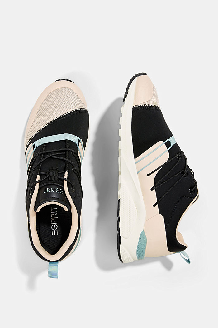 Trainers in a mix of materials, PASTEL PINK, detail image number 1
