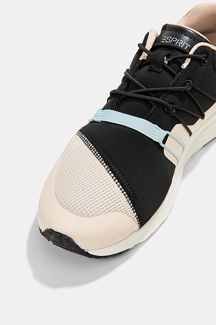 Trainers in a mix of materials, PASTEL PINK, detail image number 4