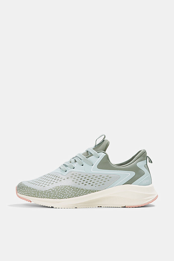 Sneaker im Material-Mix, DUSTY GREEN, detail image number 0