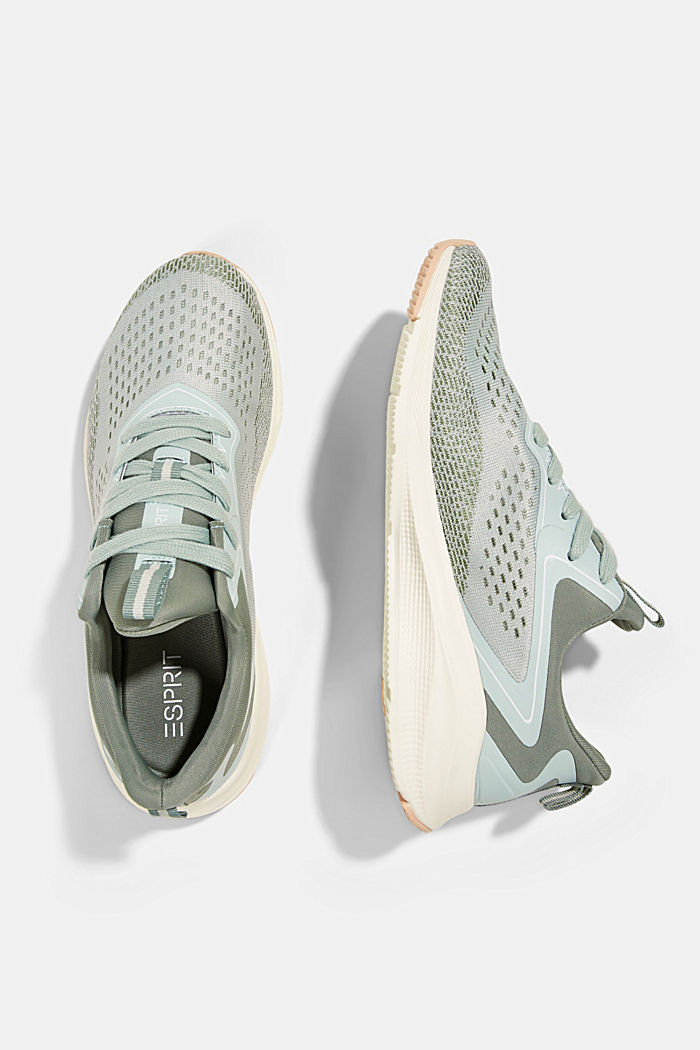 Sneaker im Material-Mix, DUSTY GREEN, detail image number 1