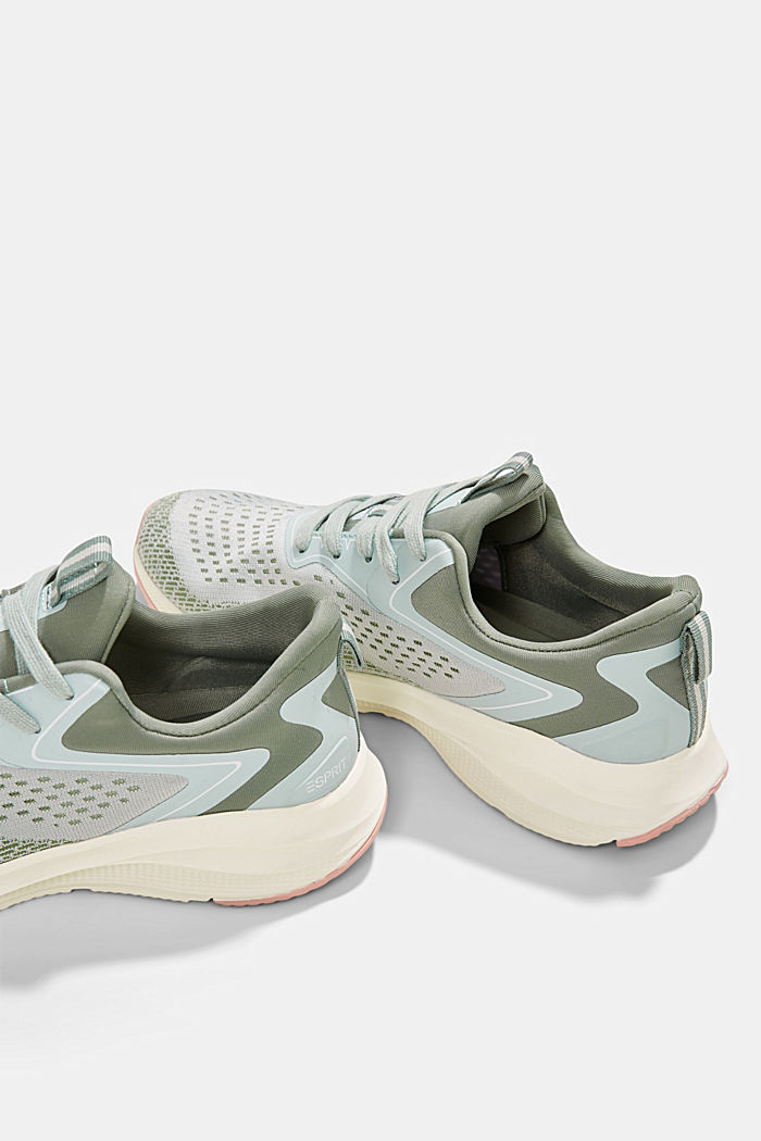 Sneaker im Material-Mix, DUSTY GREEN, detail image number 5