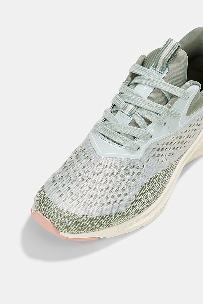 Sneaker im Material-Mix, DUSTY GREEN, detail image number 4