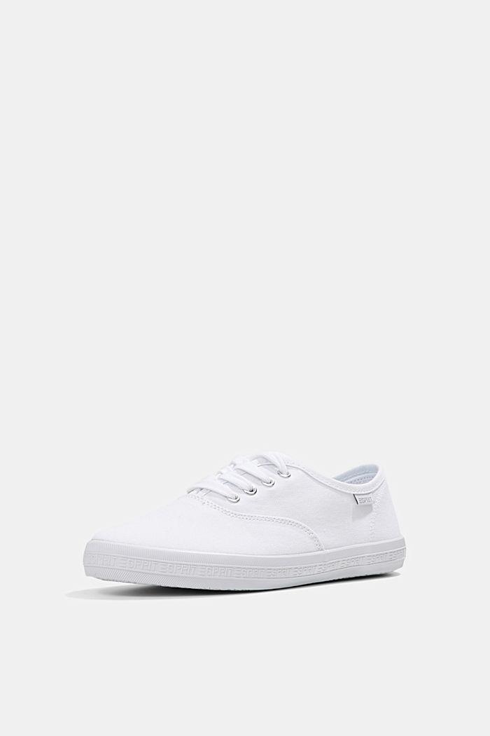 Canvas-Sneaker mit Logo-Sohle, WHITE, detail image number 2