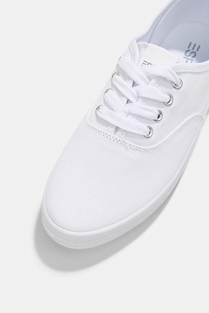 Canvas-Sneaker mit Logo-Sohle, WHITE, detail image number 4
