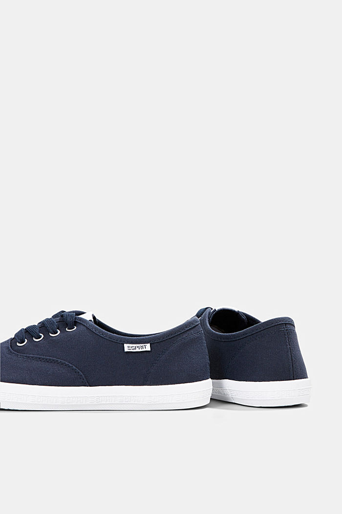 Canvas trainers with a logo sole, NAVY, detail image number 5