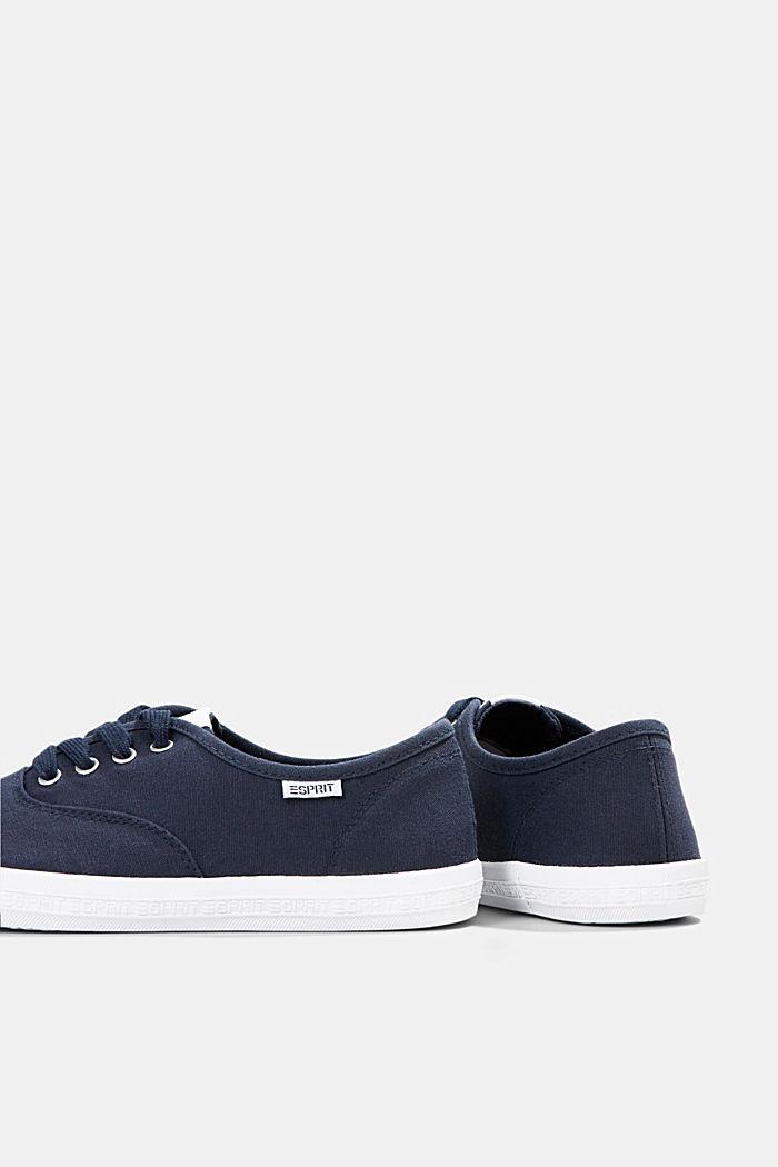 Canvas-Sneaker mit Logo-Sohle, NAVY, detail image number 5