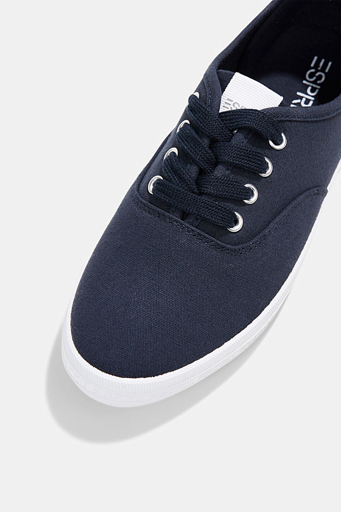 Canvas-Sneaker mit Logo-Sohle, NAVY, detail image number 4