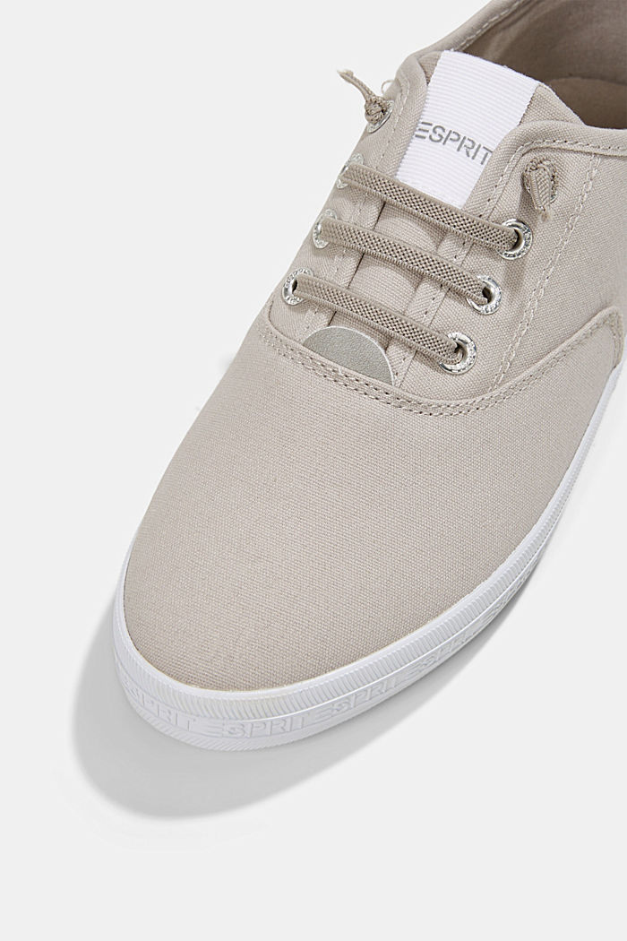 Canvas trainers with a logo sole, LIGHT GREY, detail image number 4