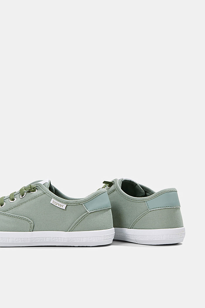 Canvas-Sneaker mit Logo-Sohle, DUSTY GREEN, detail image number 5
