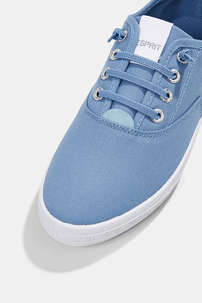 Canvas trainers with a logo sole, GREY BLUE, detail image number 4