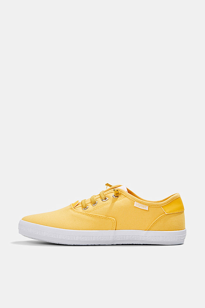 Canvas-Sneaker mit Logo-Sohle, SUNFLOWER YELLOW, detail image number 0