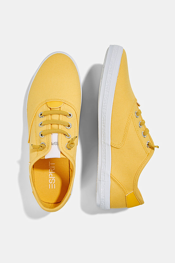 Canvas-Sneaker mit Logo-Sohle, SUNFLOWER YELLOW, detail image number 1