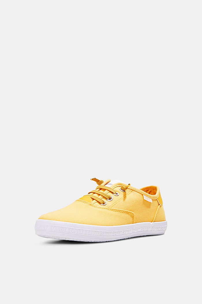 Canvas-Sneaker mit Logo-Sohle, SUNFLOWER YELLOW, detail image number 2