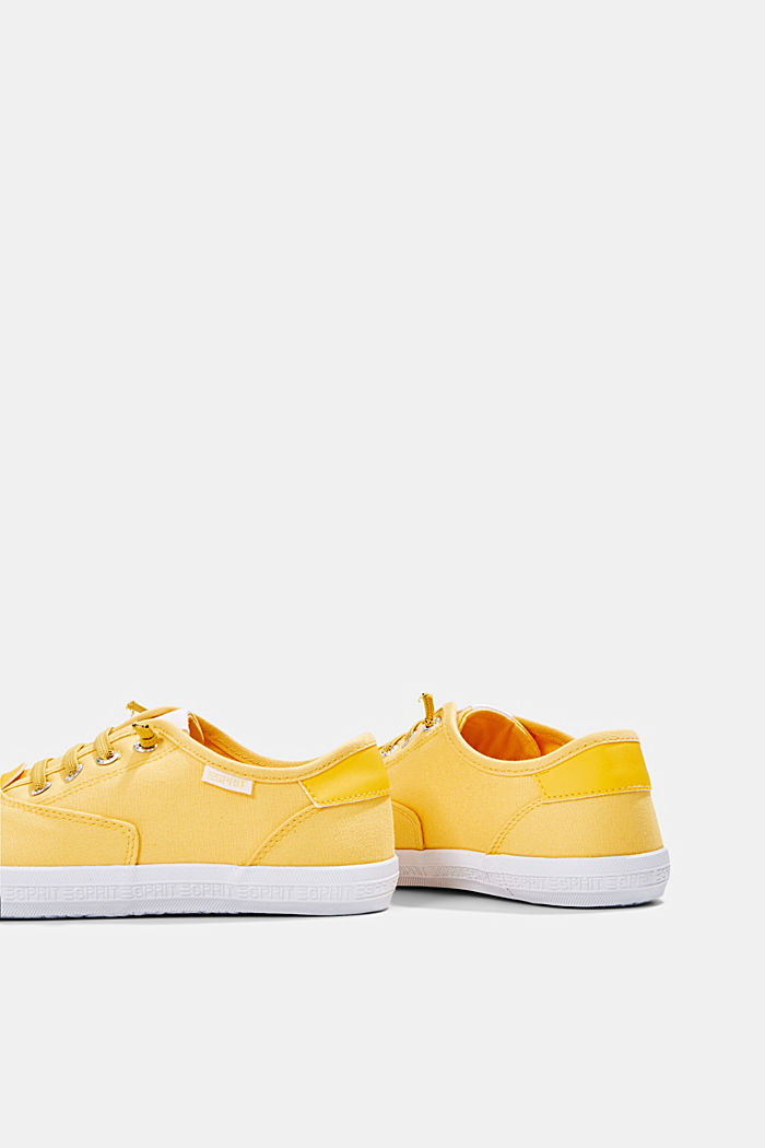 Canvas-Sneaker mit Logo-Sohle, SUNFLOWER YELLOW, detail image number 5