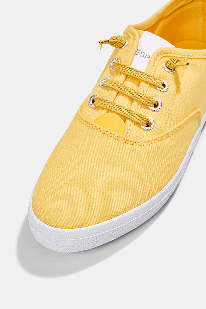 Canvas-Sneaker mit Logo-Sohle, SUNFLOWER YELLOW, detail image number 4