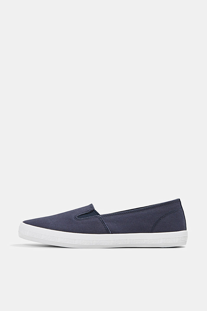 Slip-On-Sneaker aus Canvas mit Logo-Sohle, DARK BLUE, detail image number 0