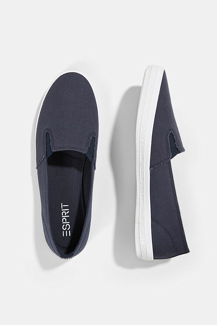 Slip-On-Sneaker aus Canvas mit Logo-Sohle, DARK BLUE, detail image number 1