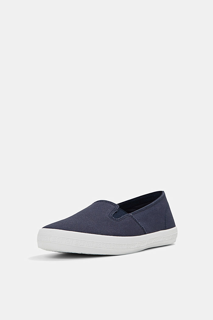 Slip-On-Sneaker aus Canvas mit Logo-Sohle, DARK BLUE, detail image number 2