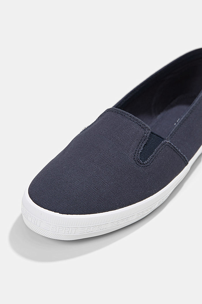 Slip-On-Sneaker aus Canvas mit Logo-Sohle, DARK BLUE, detail image number 4