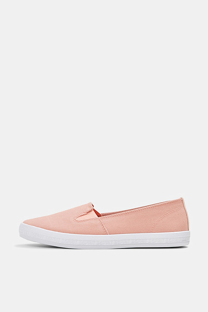 Slip-on canvas trainers with a logo sole