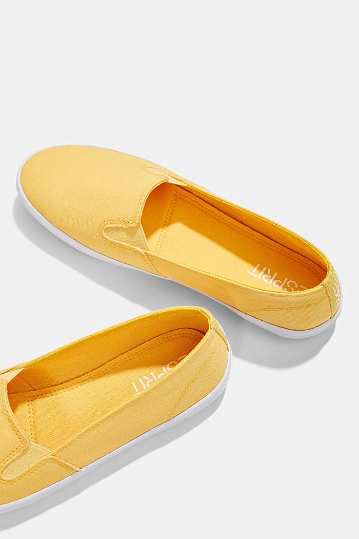 Slip-On-Sneaker aus Canvas mit Logo-Sohle, SUNFLOWER YELLOW, detail image number 6