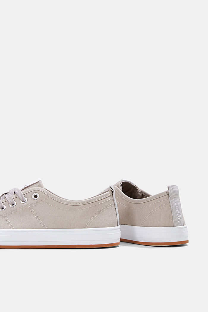 Canvas-Sneaker aus 100% Baumwolle, LIGHT GREY, detail image number 5