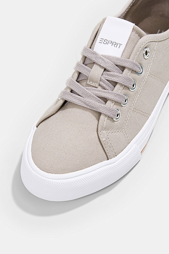 Canvas-Sneaker aus 100% Baumwolle, LIGHT GREY, detail image number 4