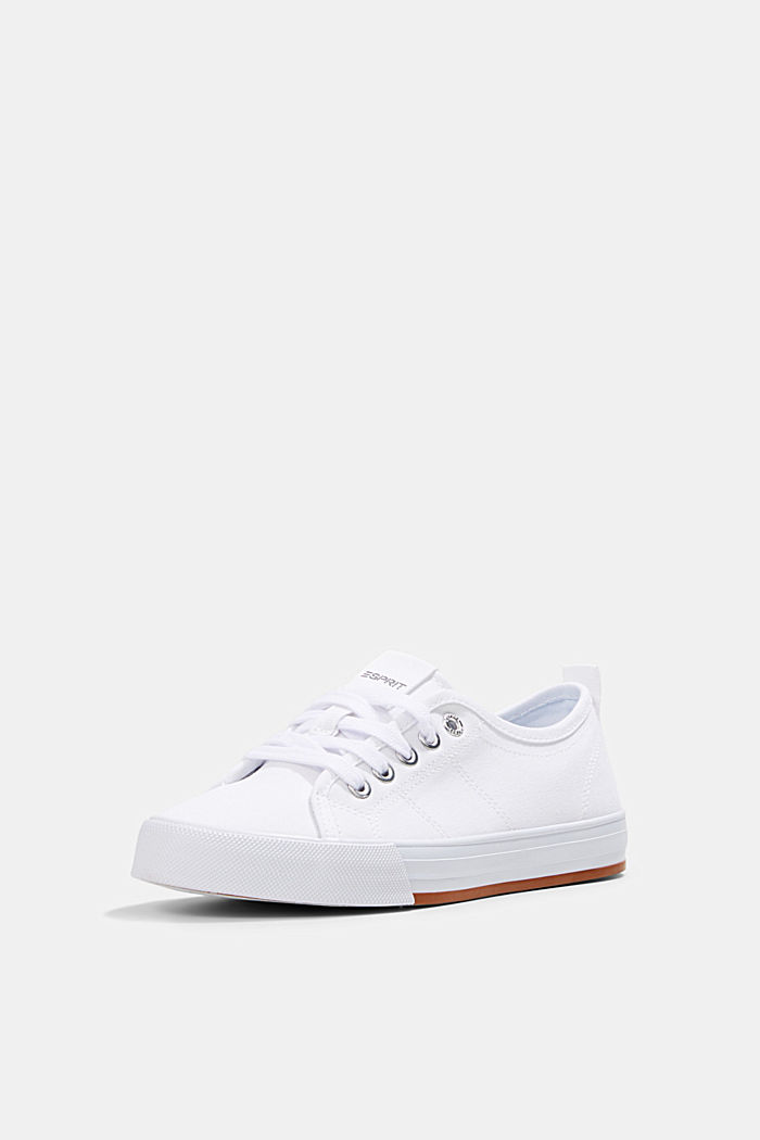 Canvas trainers, 100% cotton, WHITE, detail image number 2