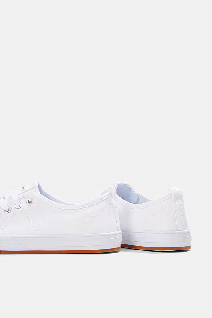 Canvas trainers, 100% cotton, WHITE, detail image number 5