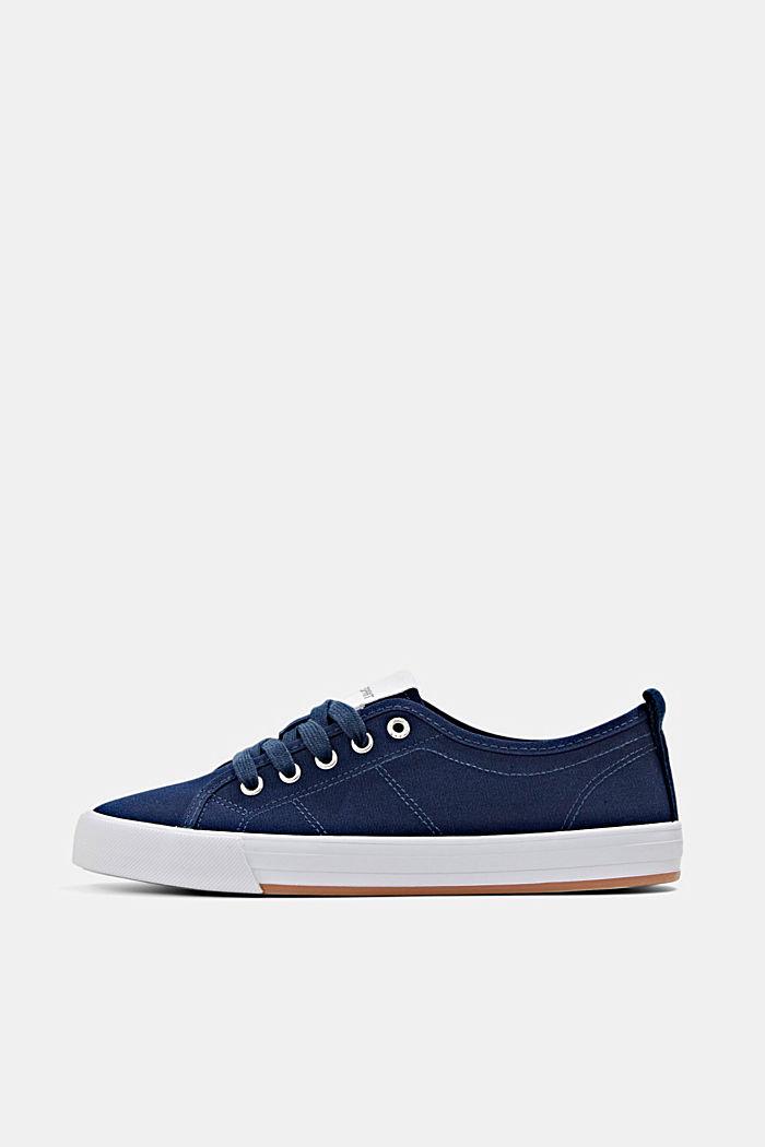 Canvas-Sneaker aus 100% Baumwolle, DARK BLUE, detail image number 0