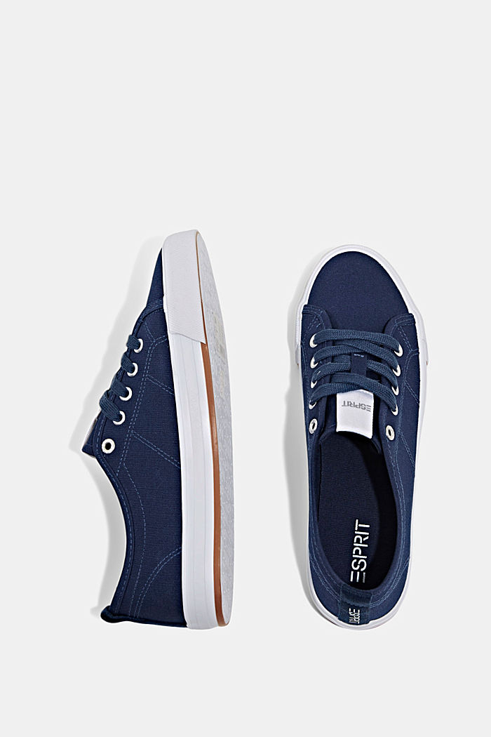 Canvas-Sneaker aus 100% Baumwolle, DARK BLUE, detail image number 1