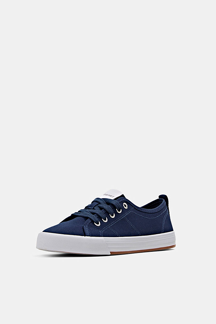 Canvas-Sneaker aus 100% Baumwolle, DARK BLUE, detail image number 2
