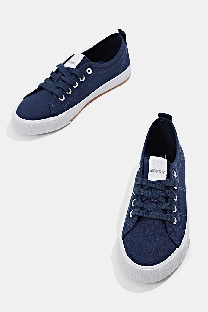 Canvas-Sneaker aus 100% Baumwolle, DARK BLUE, detail image number 6