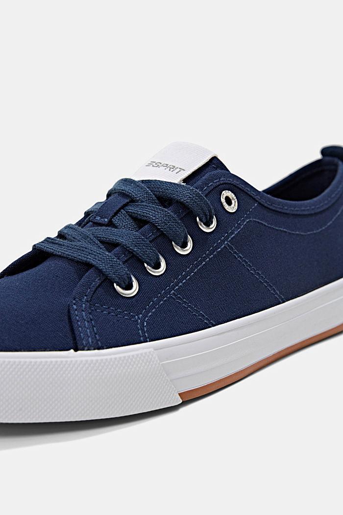 Canvas-Sneaker aus 100% Baumwolle, DARK BLUE, detail image number 4