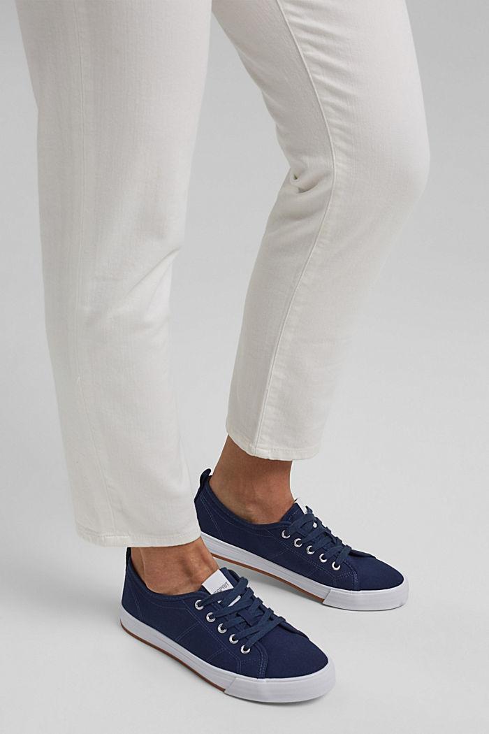 Canvas-Sneaker aus 100% Baumwolle, DARK BLUE, detail image number 3