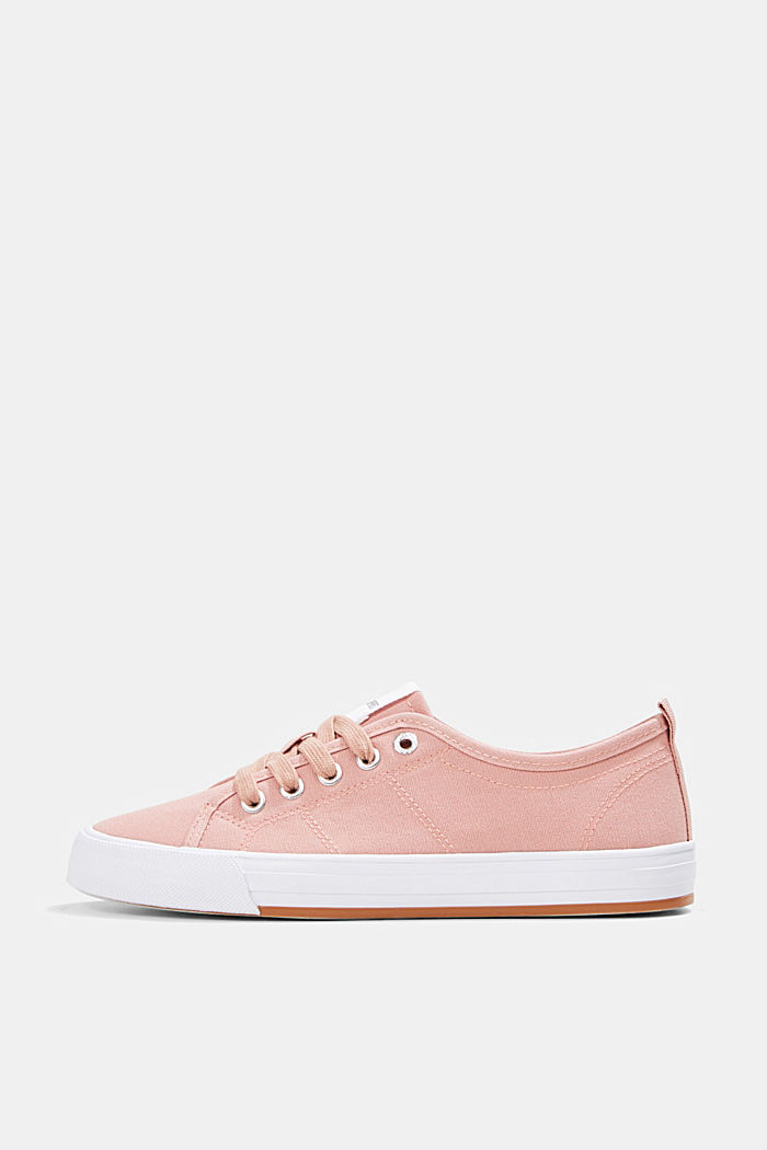 Canvas trainers, 100% cotton, OLD PINK, detail image number 0