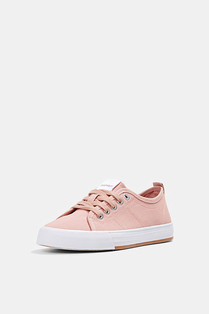 Canvas trainers, 100% cotton, OLD PINK, detail image number 2